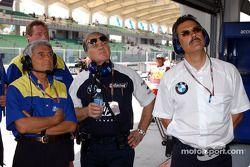 Pierre Dupasquier, Patrick Head y Dr Mario Theissen