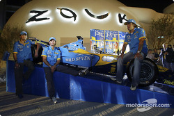 Mild Seven pit party, Zouk Nightclub Kuala Lumpur: Franck Montagny, Jarno Trulli ve Fernando Alonso