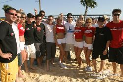 Hawaiian Tropic volleyball match: family picture