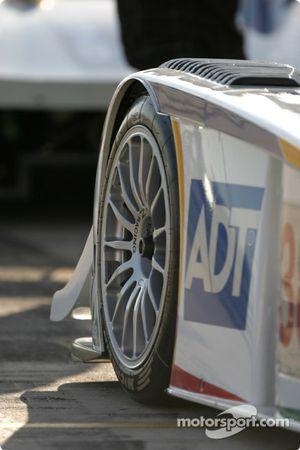 Detail of the #28 Audi Sport UK Team Veloqx Audi R8