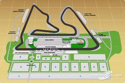 Une carte du Bahrain International Circuit