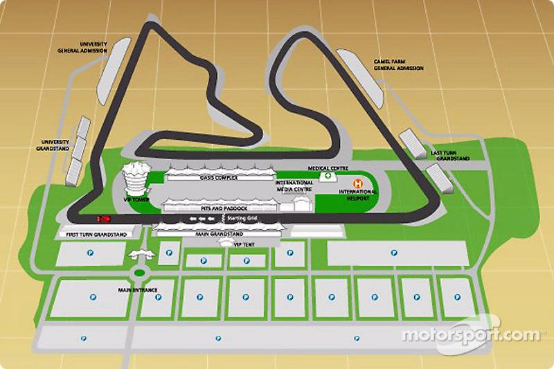 bahrain international circuit map at bahrain gp formula 1 photosbahrain international circuit map
