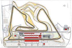 Un plan du Bahrain International Circuit