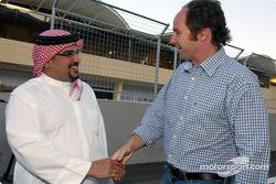 H.H. Shaikh Salman Bin Hamad Al Khalifa, The Crown Prince greets Gerhard Berger