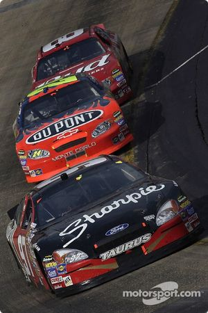 Kurt Busch leads Jeff Gordon and Dale Earnhardt Jr.