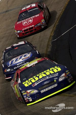 Greg Biffle leads Rusty Wallace and Kasey Kahne