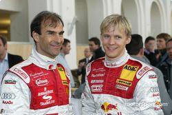 Emanuele Pirro et Mattias Ekström