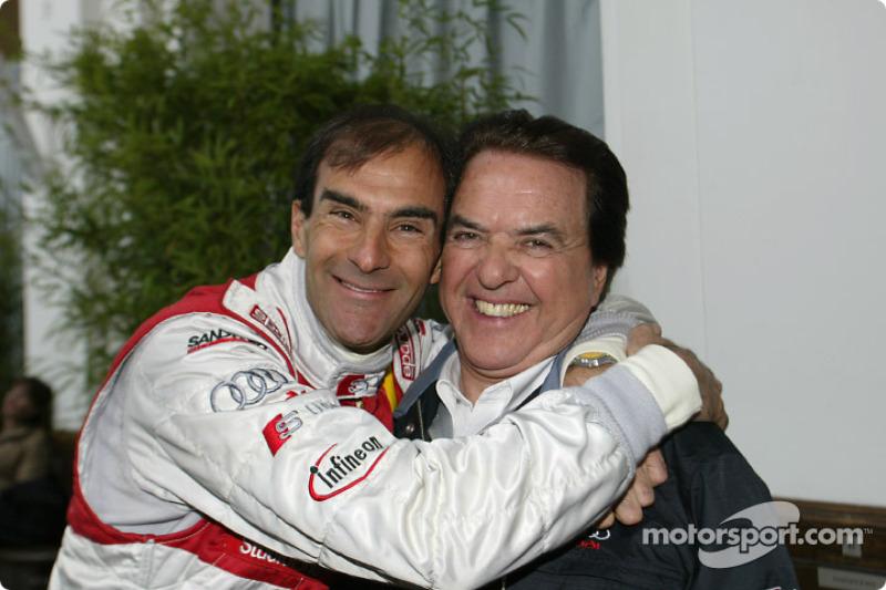 Emanuele Pirro with Team Director Reinhold Joest