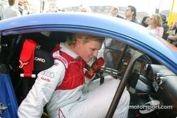 Maria Riesch in the Audi race taxi
