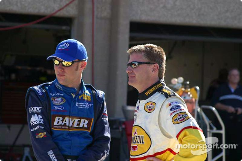 Matt Kenseth y Jeff Burton