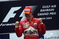 Podium: winnaar Michael Schumacher