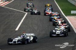 Vuelta de formación:: Juan Pablo Montoya y Ralf Schumacher