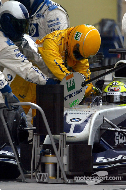 Boxenstopp: Ralf Schumacher, BMW Williams F1 Team, FW26