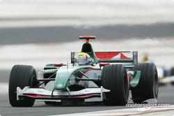Mark Webber, Jaguar R5; Giorgio Pantano. Jordan EJ14