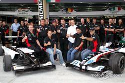 L'équipe Minardi rencontre les pilotes Minardi Team Asia en Formule BMW