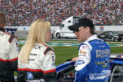 Kevin Harvick and his wife share a minute