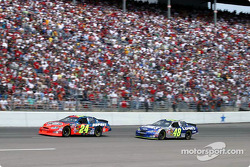 Team mates Jeff Gordon and Jimmie Johnson