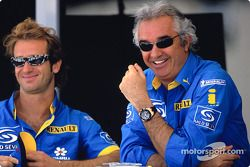 Jarno Trulli y Flavio Briatore