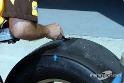 Vérification de l'usure des pneus