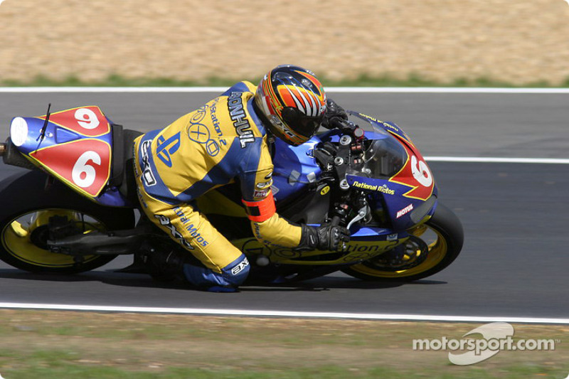 La Honda CBR n°6 de National Motos Playstation 2 (Philippe Donischal, Bernard Fourcadet, Bruno Bonhuil)