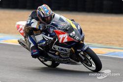 La Suzuki GSXR n°72 du Junior Team Suzuki-LMS (Guillaume Dietrich, David Fouloi, Laurry Fremy)