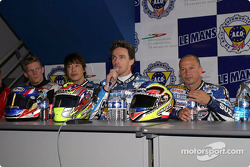 Press conference: race winners Stéphane Chambon, Keiichi Kitagawa, Warwick Nowland