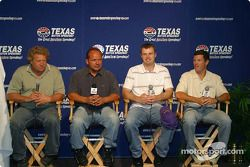 Steve Kinser, Danny Lasoski, Travis Kvapil and Scott Sharp at the IROC press conference