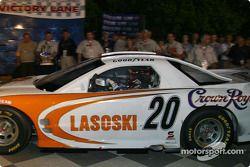 Danny Lasoski arrives in victory lane