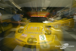 La zone de paddock de Corvette Racing