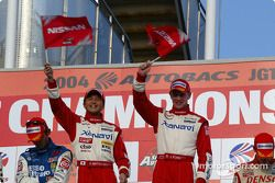 GT500 podium: winners Satoshi Motoyama, Richard Lyons