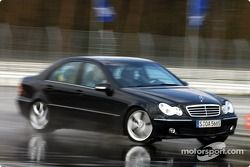 Bernd Schneider testet einen AMG-Mercedes