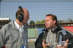 Audi-Sportchef Wolfgang Ullrich mit Projektleiter Volker Nossek