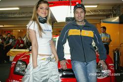 Heinz-Harald Frentzen with pop singer Jeanette Biederman