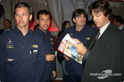 The drivers: Paul Belmondo, Claude-Yves Gosselin and Marco Saviozzi