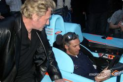 Paul Belmondo at the wheel, and Johnny Hallyday
