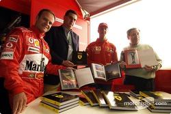 Launch of Ferrari official book 'Formula Ferrari': Rubens Barrichello, Michael Schumacher and Jean Todt