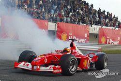 Rubens Barrichello à l'évènement promotionnel Shell V-Power Challenge