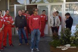 Valentino Rossi visite le circuit de Fiorano : Valentino Rossi