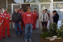 Valentino Rossi en la pista de Fiorano: Valentino Rossi