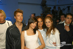 Models wearing BMW WilliamsF1 Team Collection and PUMA for BMW WilliamsF1 Team Collection