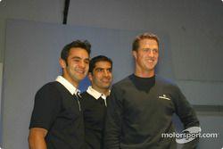 Antonio Pizzonia, Marc Gene and Ralf Schumacher