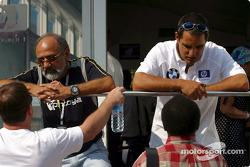 Juan Pablo Montoya with his dad