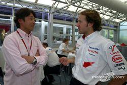 Cristiano da Matta discute avec Ukyo Katayama