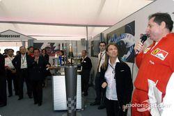 Jean Todt lors d'un évènement organisée par Bridgestone