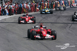 Formation lap: Michael Schumacher