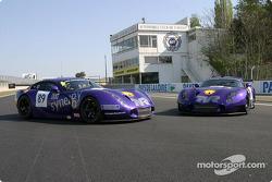 Les deux TVR Tuscan 400R du Chamberlain - Synergy Motorsport