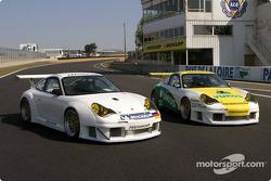Les deux Porsche 911 GT3 RSR du Freisinger Motorsport