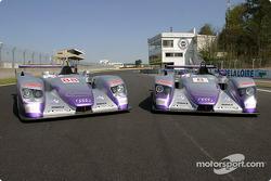 Les deux Audi R8 d'Audi Sport UK Team Veloqx