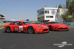 Les deux Ferrari 550 Maranello de Prodrive Racing