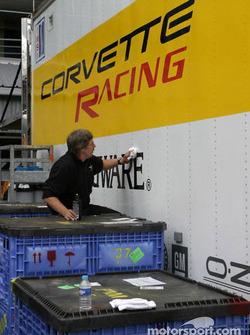 Préparation chez Corvette Racing